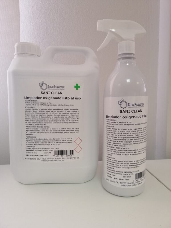 FAMILIA SANI CLEAN Limpiador oxigenado listo al Uso